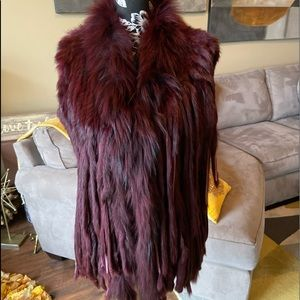 Beautiful one of a kind Dyed fur vest.